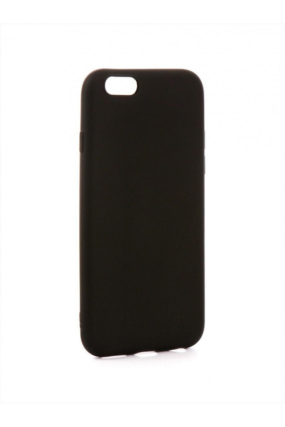 Чехол силиконовый для iPhone 6S, soft touch, черный