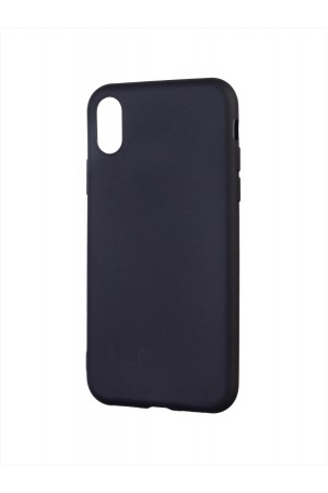 Чехол силиконовый для iPhone XS, черный
