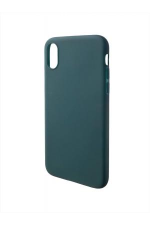 Чехол силиконовый для iPhone X, темно-зеленый