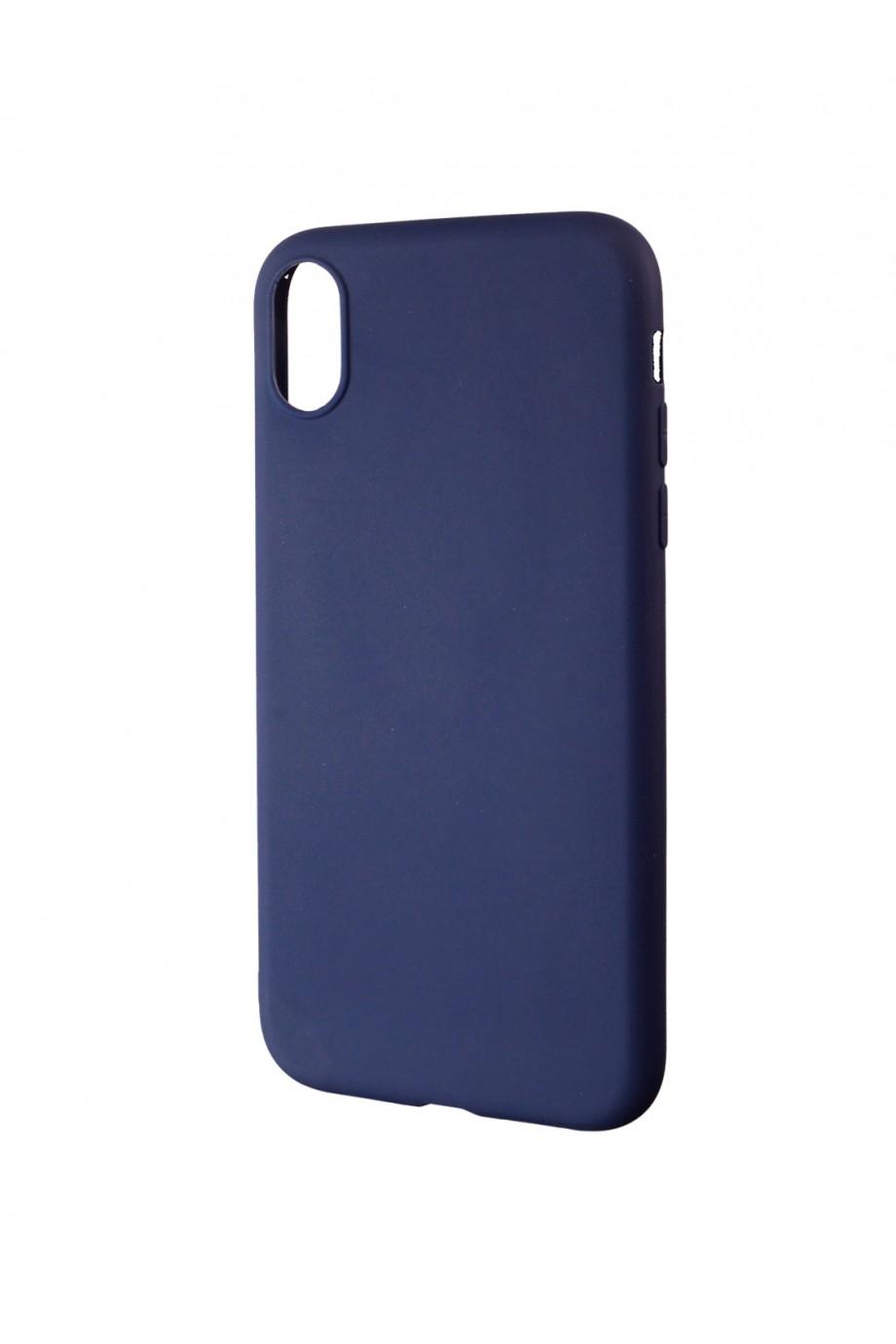 Чехол силиконовый для iPhone XR, синий