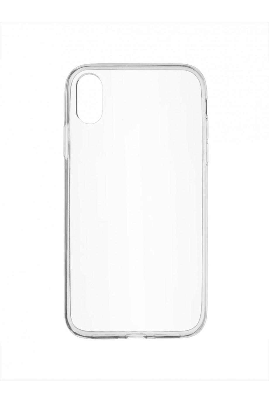 Чехол силиконовый для iPhone XR, прозрачный