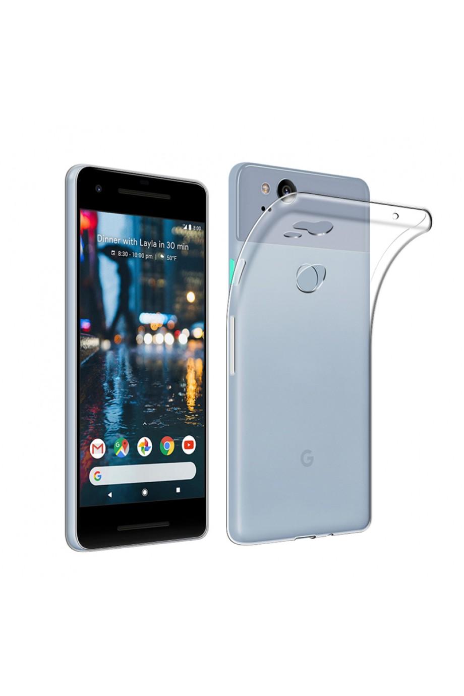 Чехол силиконовый для Google Pixel 2, прозрачный