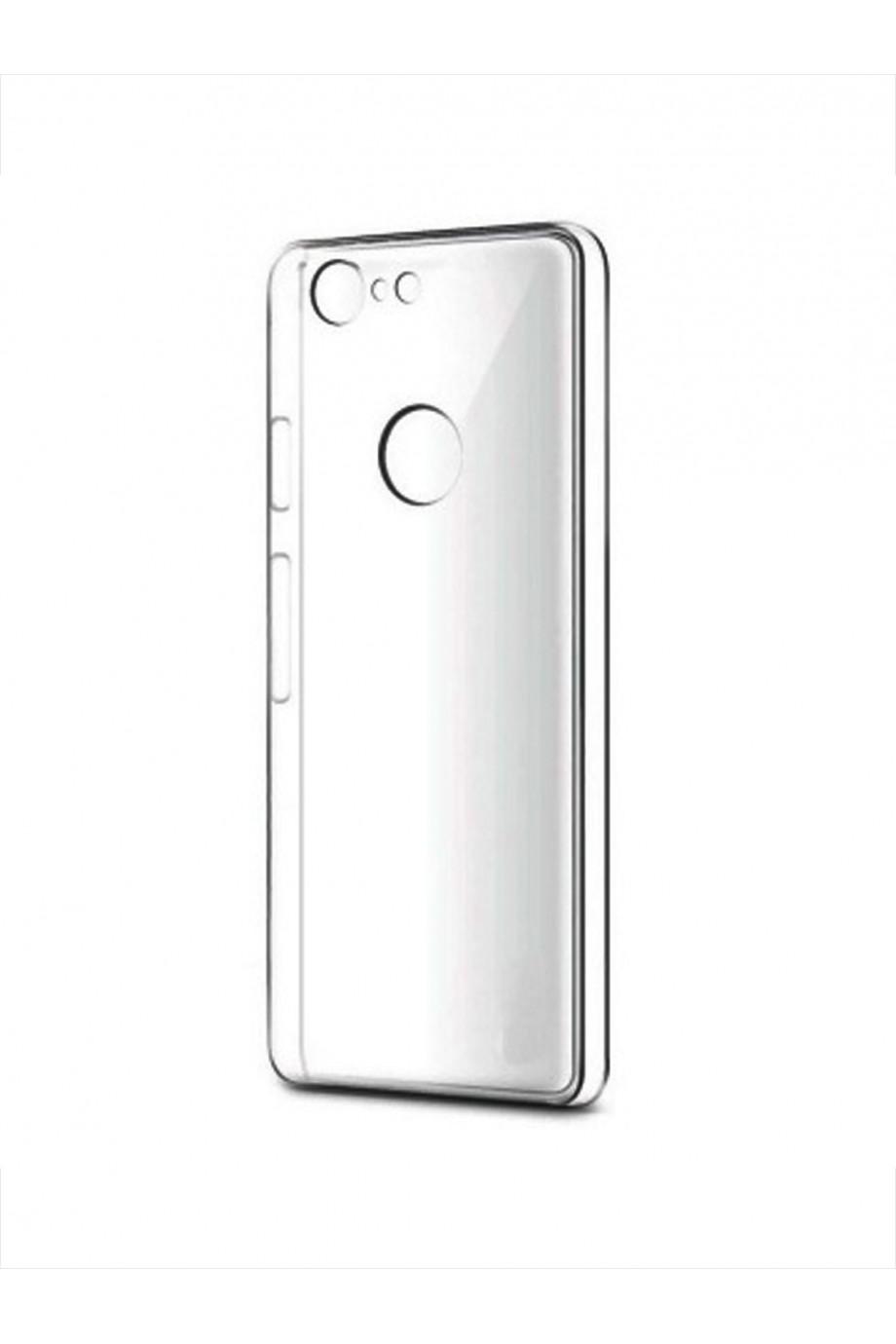 Чехол силиконовый для Google Pixel 3, прозрачный