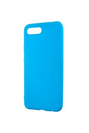 Чехол силиконовый для Honor 10, матовый, голубой