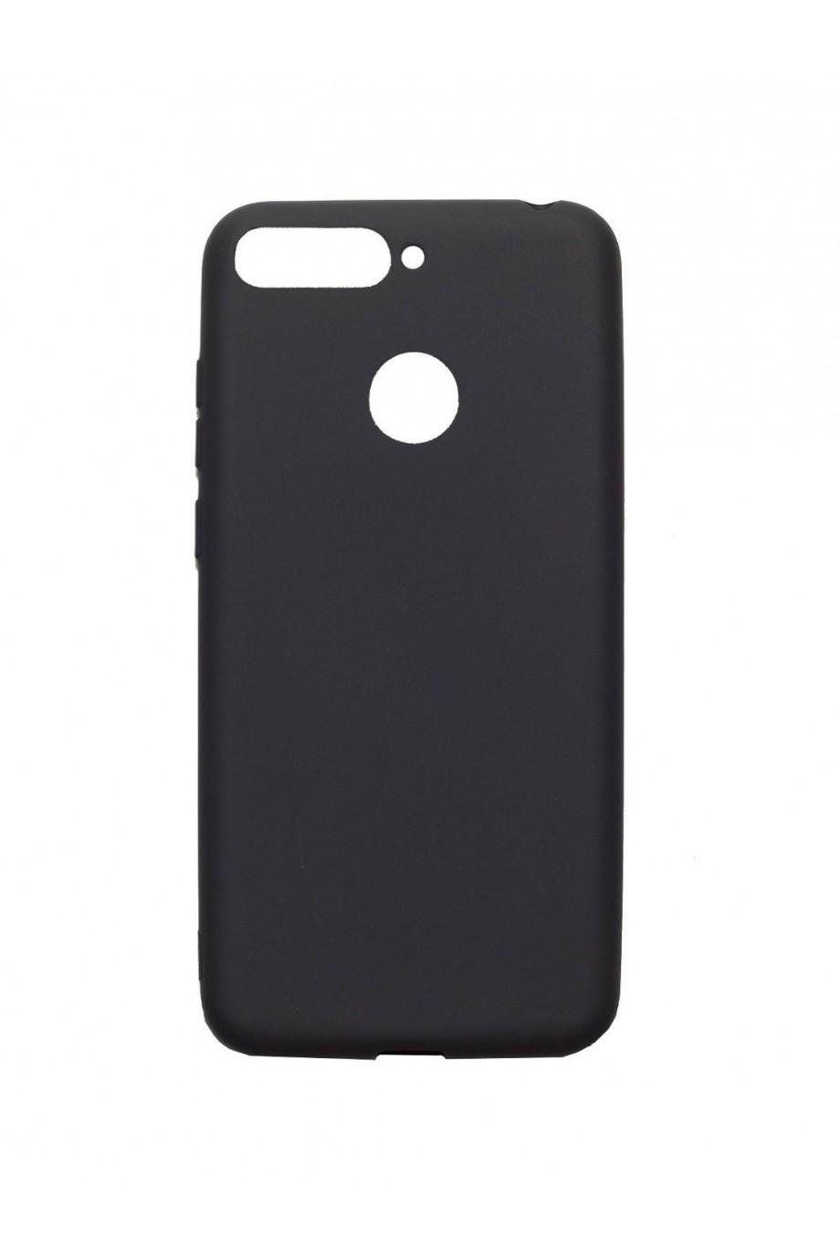 Чехол силиконовый для Honor 7A Pro, черный, матовый