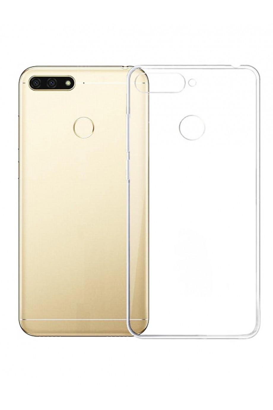 Чехол силиконовый для Huawei Y6 Prime 2018, прозрачный