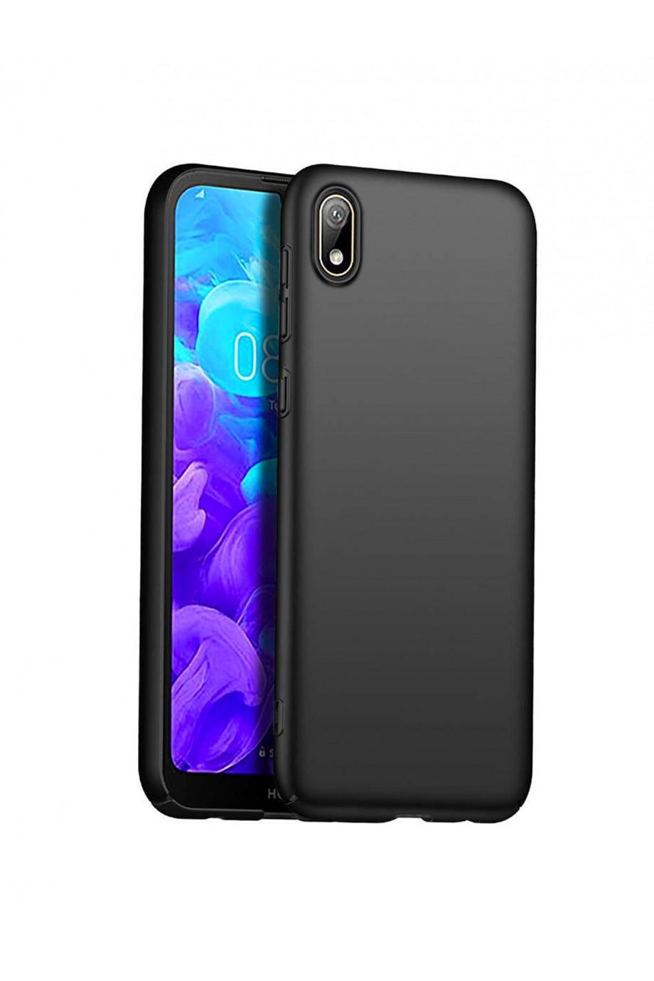 Чехол силиконовый для Huawei Y5 2019, черный, матовый