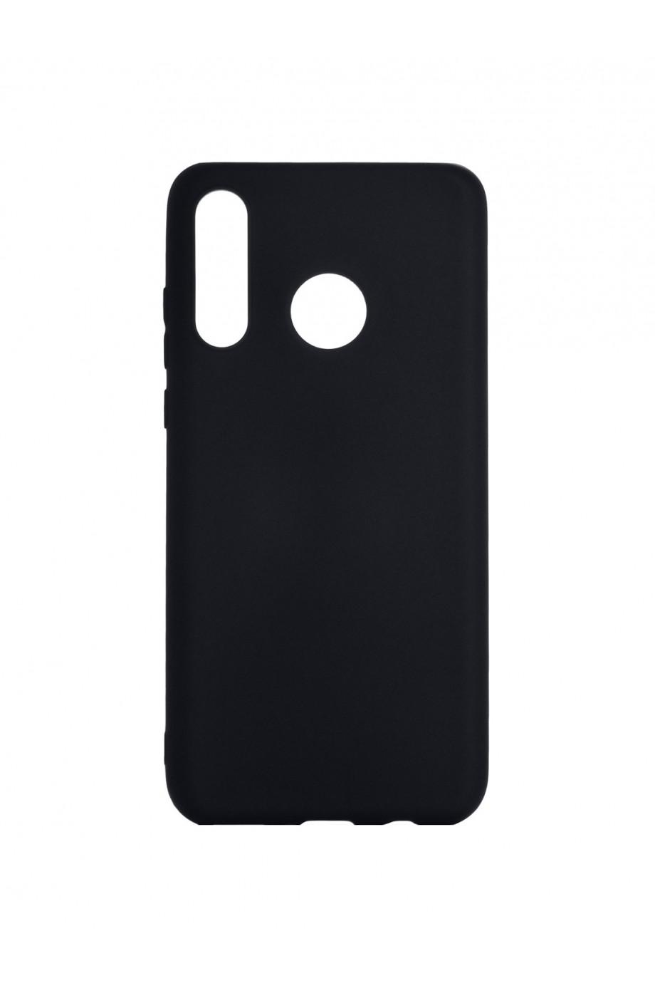 Чехол силиконовый для Huawei P30 Lite, черный, матовый
