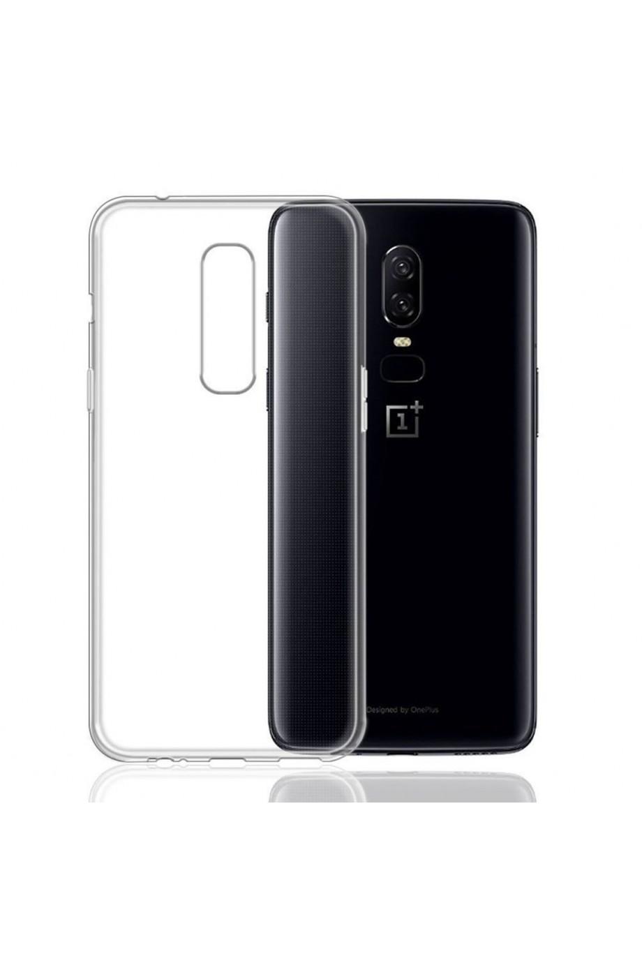 Чехол силиконовый для OnePlus 6, прозрачный