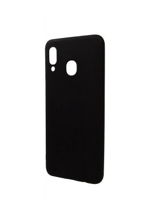Чехол силиконовый для Samsung Galaxy A30, черный