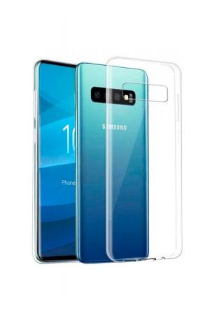 Чехол силиконовый для Samsung Galaxy S10, прозрачный