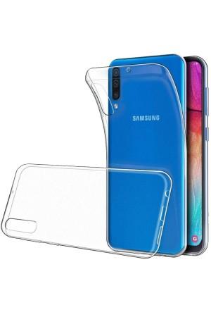 Чехол силиконовый для Samsung Galaxy A30S, прозрачный
