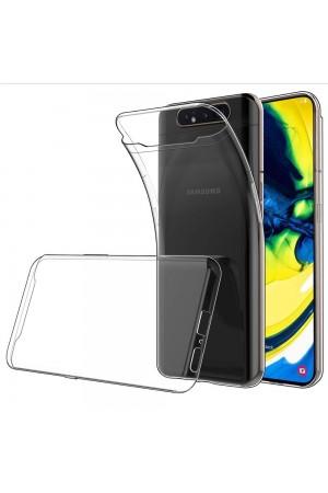 Чехол силиконовый для Samsung Galaxy A80, прозрачный