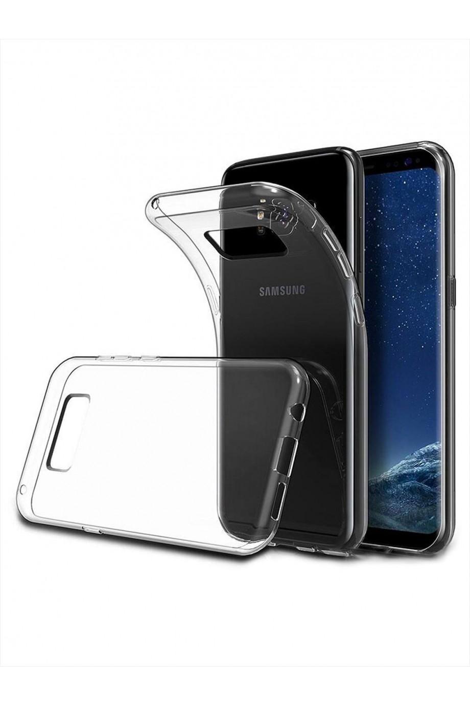 Чехол силиконовый для Samsung Galaxy S8 Plus, прозрачный