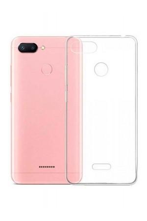 Чехол силиконовый для Xiaomi Redmi 6, прозрачный
