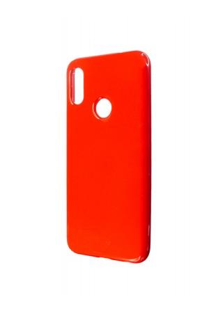 Чехол силиконовый для Xiaomi Redmi Note 7, глянцевый, красный