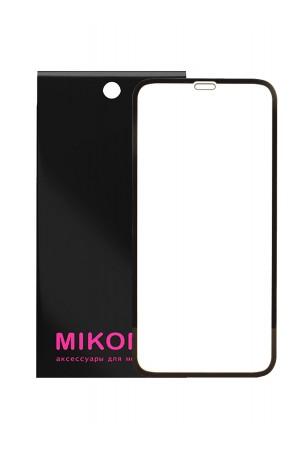 Защитное стекло 5D Mikomo для iPhone XR, черная рамка, полный клей