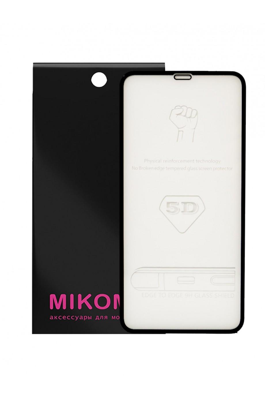 Защитное стекло 5D Mikomo для iPhone 11 Pro Max, черная рамка, полный клей