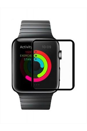 Защитная пленка для Apple Watch 1/2/3 38 мм, черная рамка