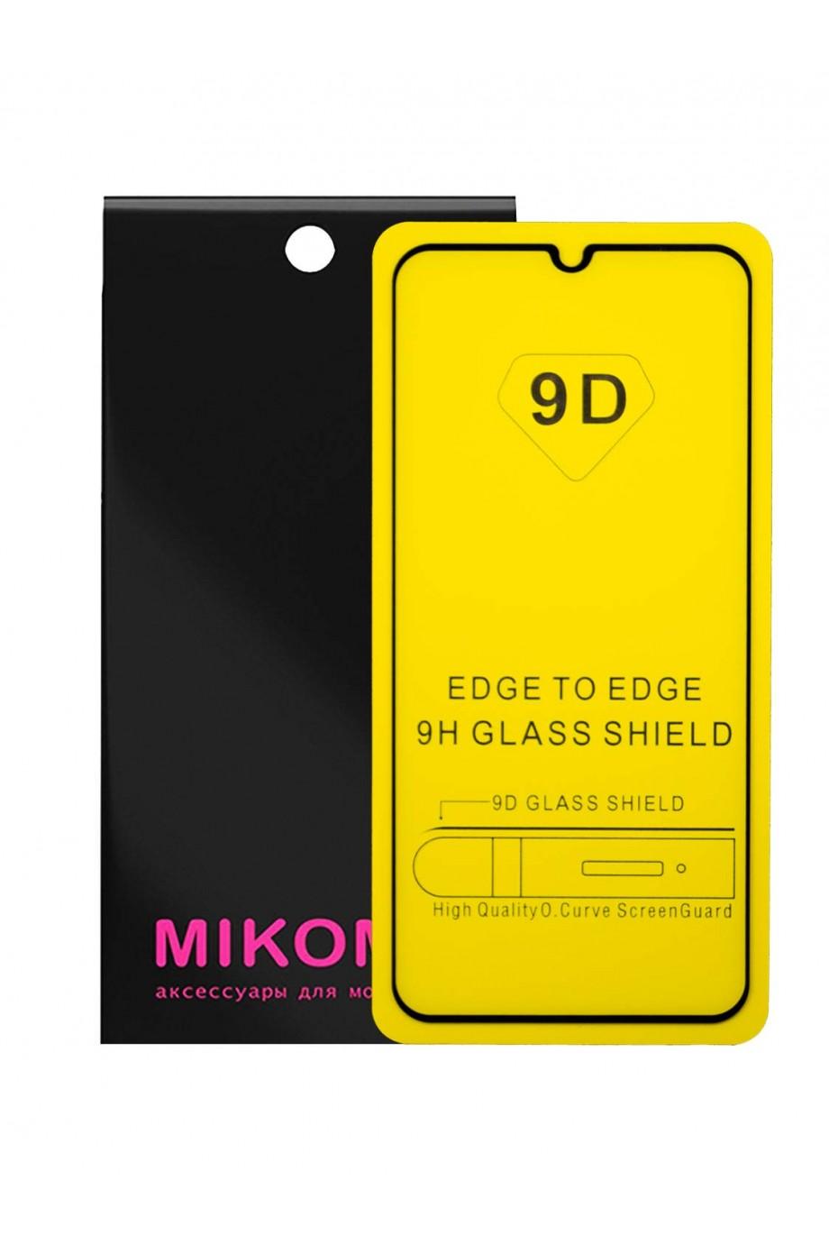 Защитное стекло 9D Mikomo для Huawei P Smart 2019, черная рамка, полный клей