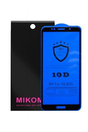 Защитное стекло 10D Mikomo для Honor 7A, черная рамка, полный клей, mk29