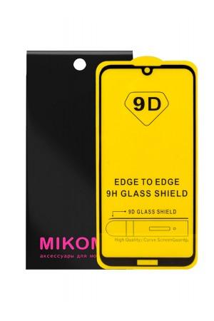 Защитное стекло 9D Mikomo для Huawei Y5 2019, черная рамка, полный клей