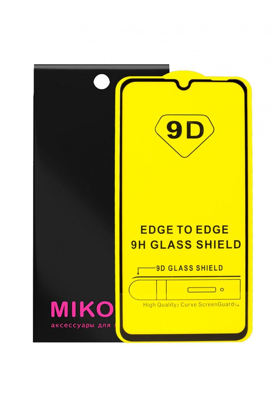 Защитное стекло 9D Mikomo для Huawei P30 Lite, черная рамка, полный клей