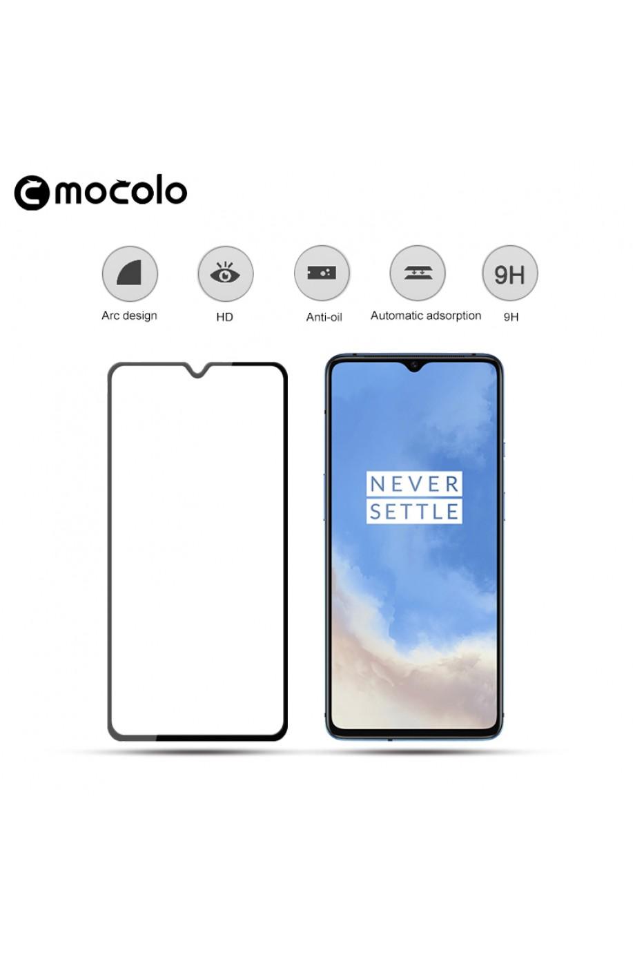 Защитное стекло 5D Mocolo для OnePlus 7T, черная рамка, полный клей
