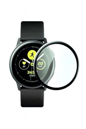 Защитная пленка PMMA 3D для Samsung Galaxy Watch Active 2 44 мм, черная рамка, полный клей