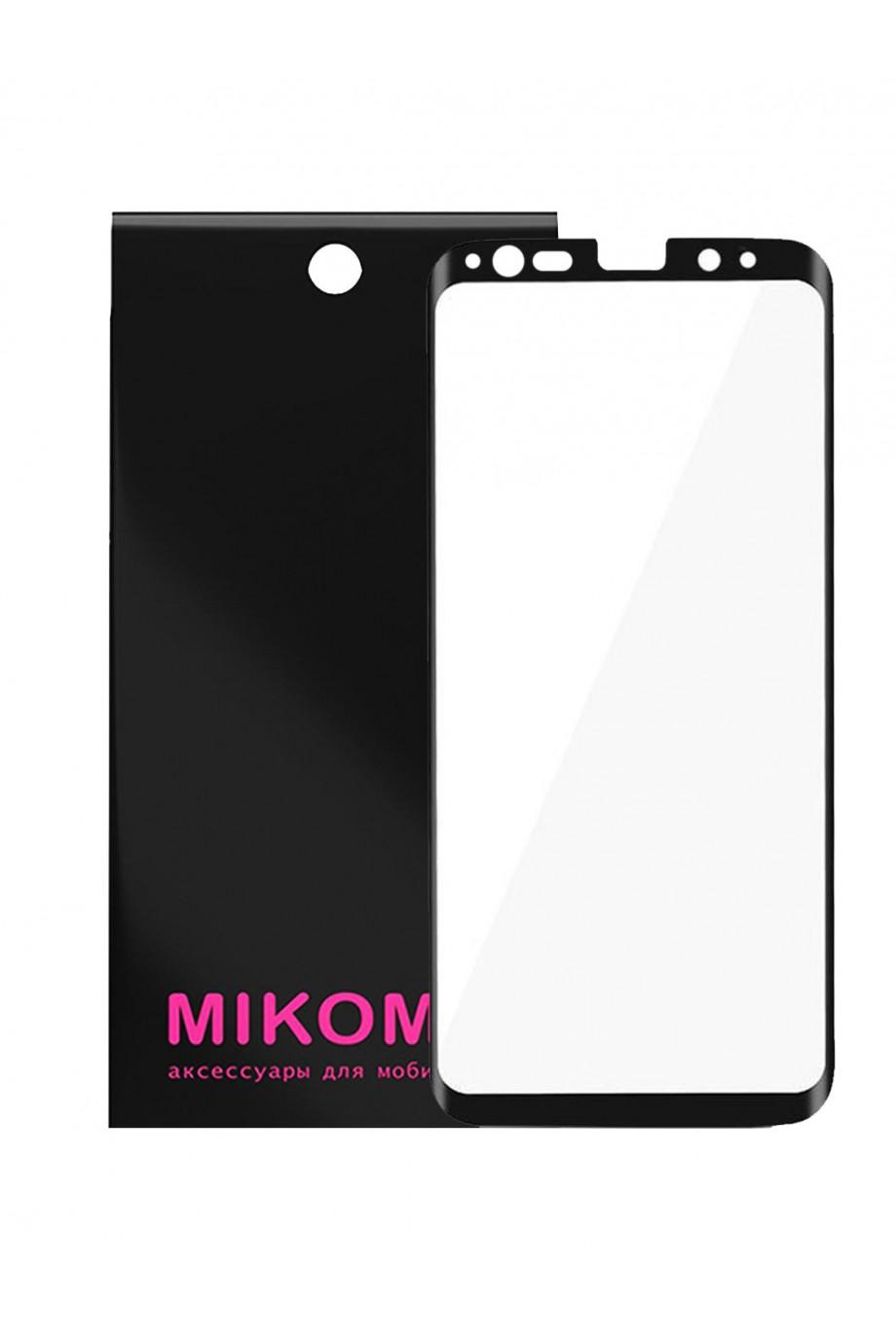 Защитное стекло 3D Mikomo для Samsung Galaxy Note 9, черная рамка, полный клей, ver2