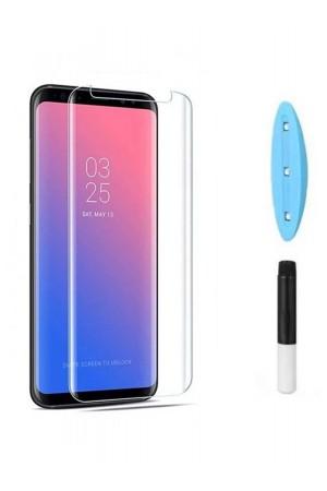 Защитное стекло 3D для Samsung Galaxy S8, UV с УФ лампой, полный клей