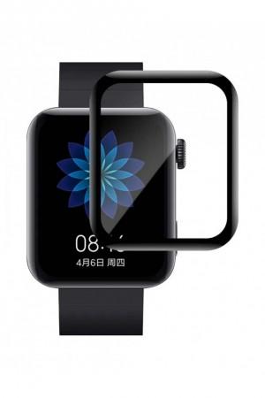 Защитная пленка PMMA 3D для Xiaomi Mi Watch, черная рамка, полный клей