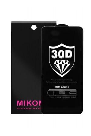 Защитное стекло 30D Mikomo для Xiaomi Redmi K20, черная рамка, полный клей