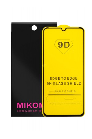 Защитное стекло 9D Mikomo для Xiaomi Mi 9 Lite, черная рамка, полный клей