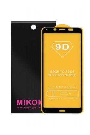 Защитное стекло 9D Mikomo для Xiaomi Redmi 7A, черная рамка, полный клей