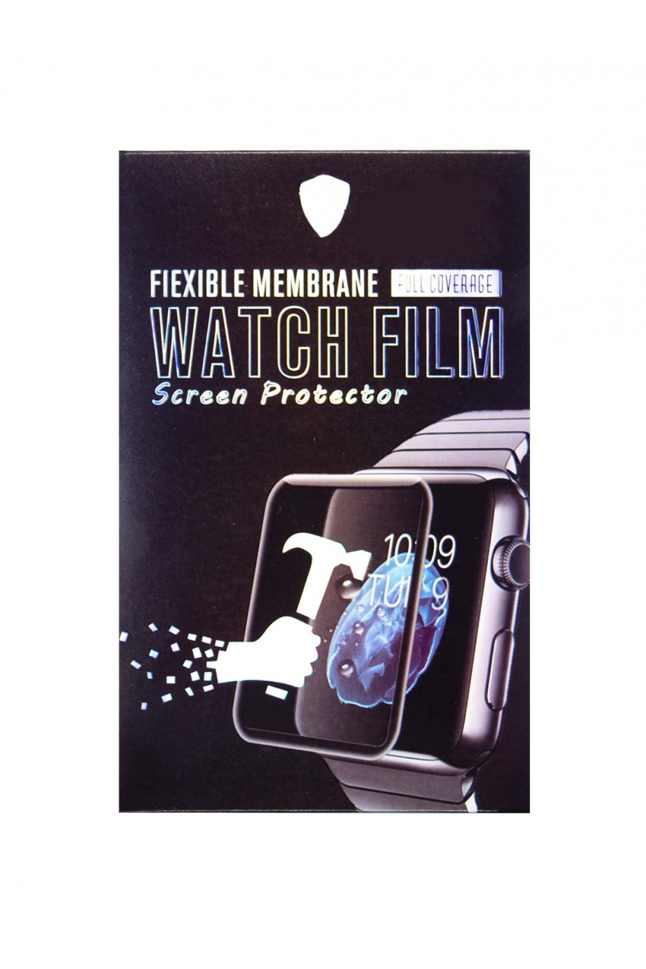 Защитная пленка PMMA 3D для Apple Watch 1/2/3 38 мм, черная рамка, полный клей