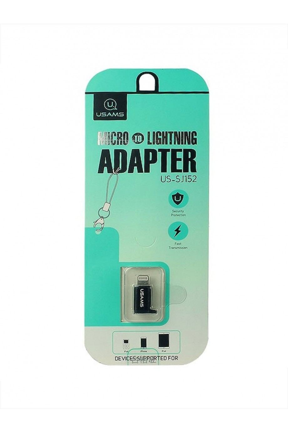 Адаптер USAMS iPhone Lightning – Micro USB