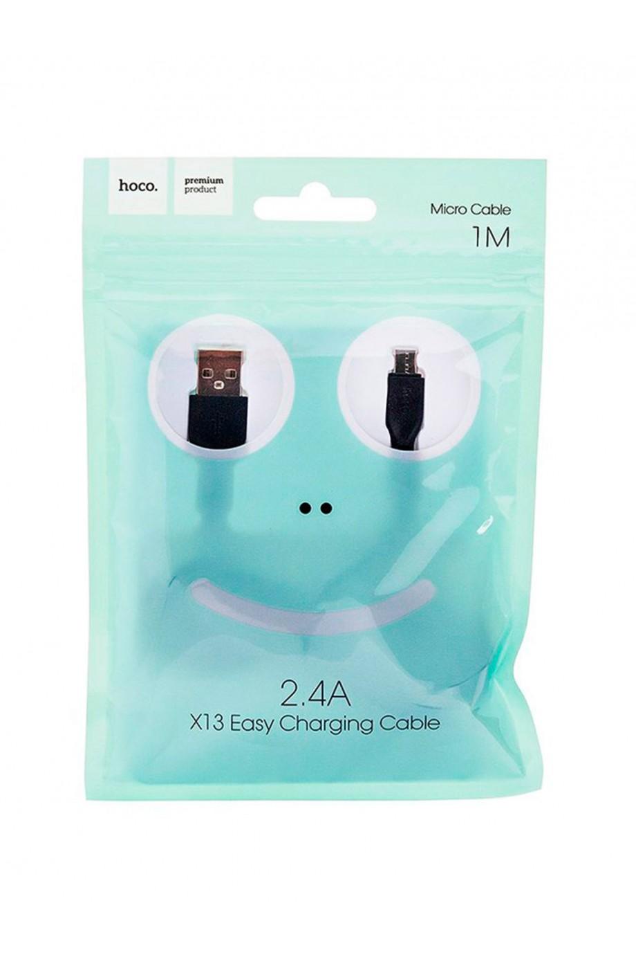 Кабель HOCO X13 USB – Micro USB, черный, 1 м
