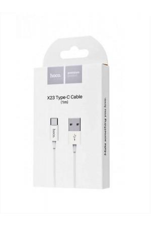 Кабель Hoco X23 USB – Type-C, 1 м, белый