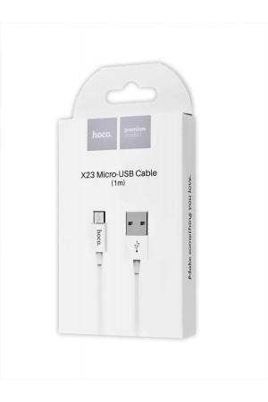Кабель HOCO X23 USB – Micro USB, белый, 1 м