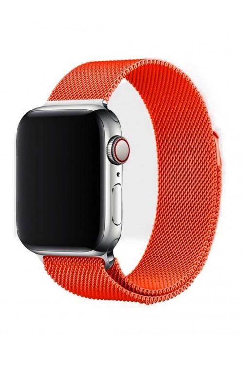 Металлический ремешок для Apple Watch 3 42 мм, оранжевый