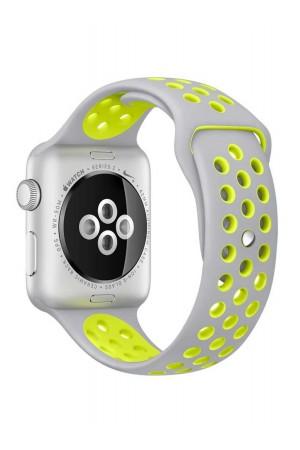 Силиконовый ремешок для Apple Watch 4/5 44 мм, перфорированный, серый