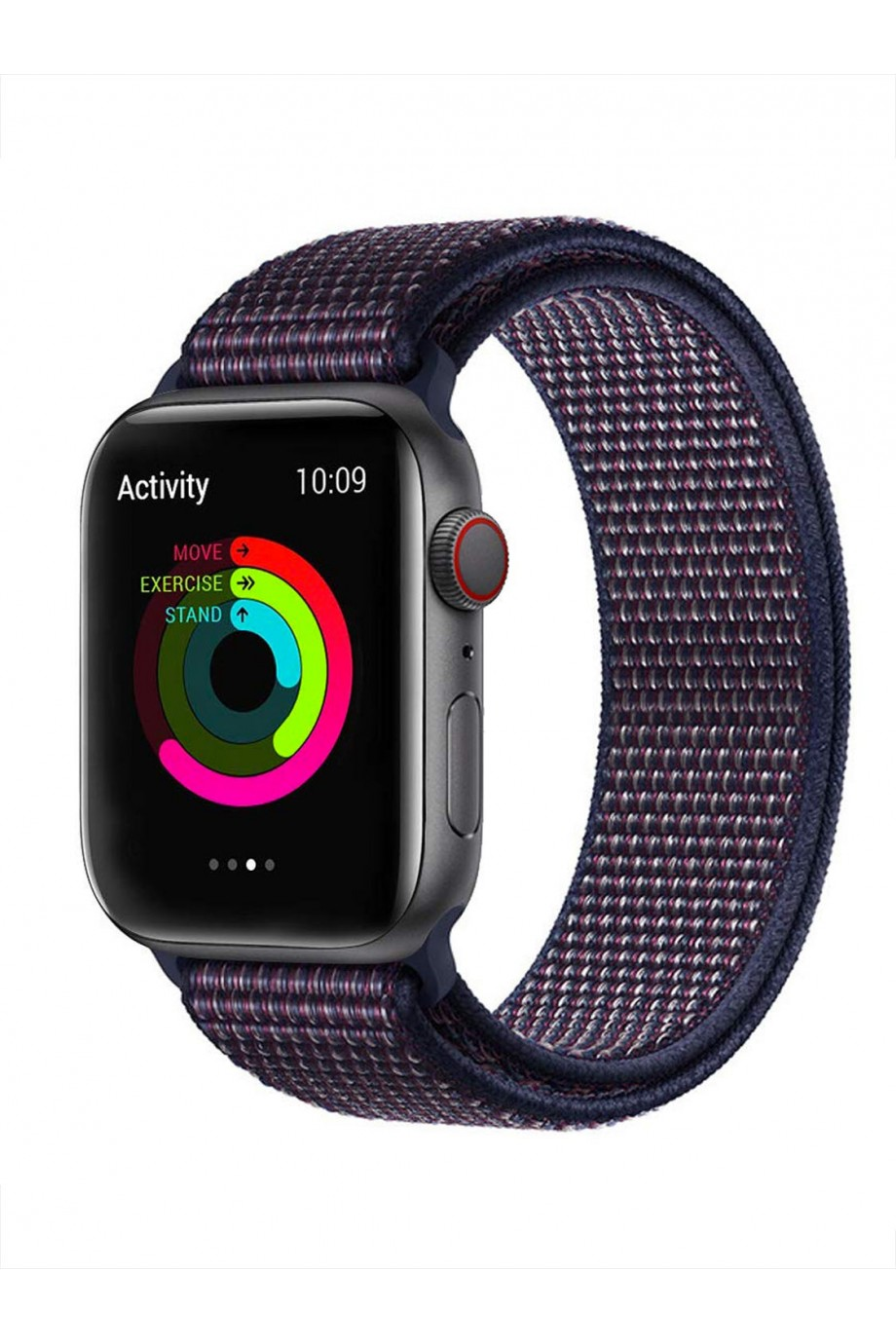 Нейлоновый ремешок для Apple Watch 3 38 мм, синий-фиолетовый