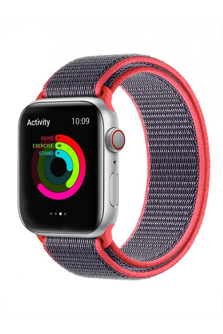 Нейлоновый ремешок для Apple Watch 4/5 44 мм, красный