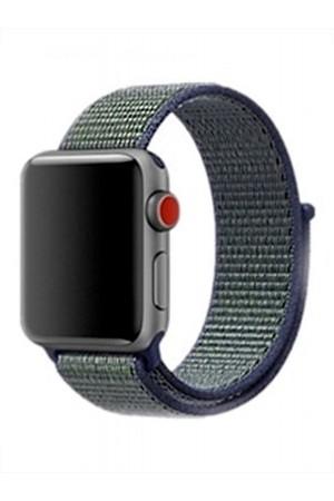 Нейлоновый ремешок для Apple Watch 3 38 мм, синий-зеленый