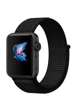 Нейлоновый ремешок для Apple Watch 3 38 мм, черный