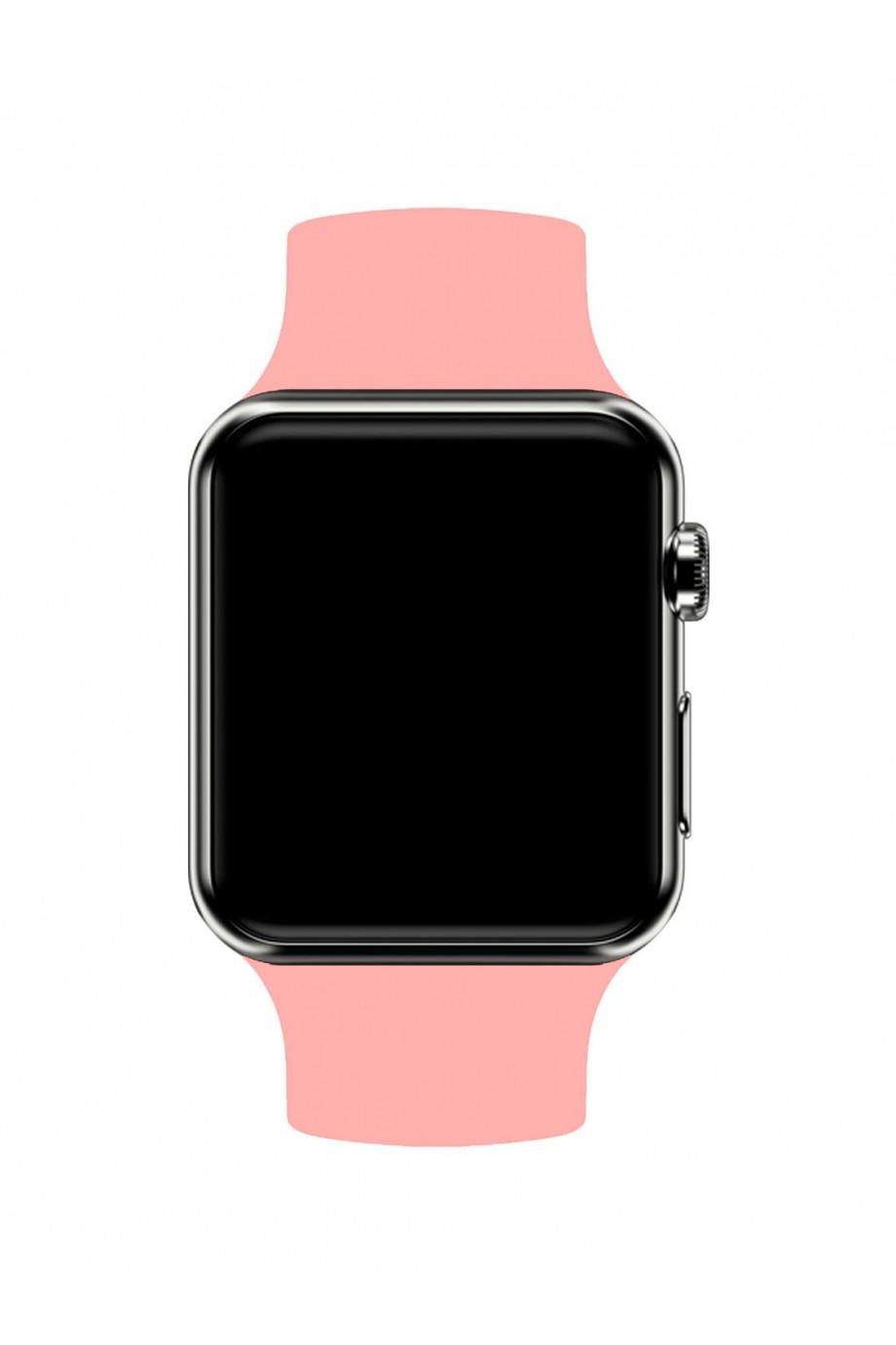 Силиконовый ремешок для Apple Watch 4/5 44 мм, розовый