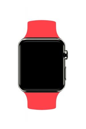 Силиконовый ремешок для Apple Watch 4/5 44 мм, красный