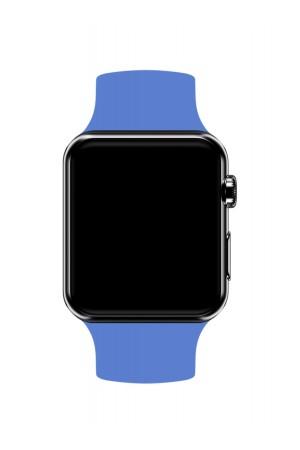 Силиконовый ремешок для Apple Watch 4/5 44 мм, серо-голубой