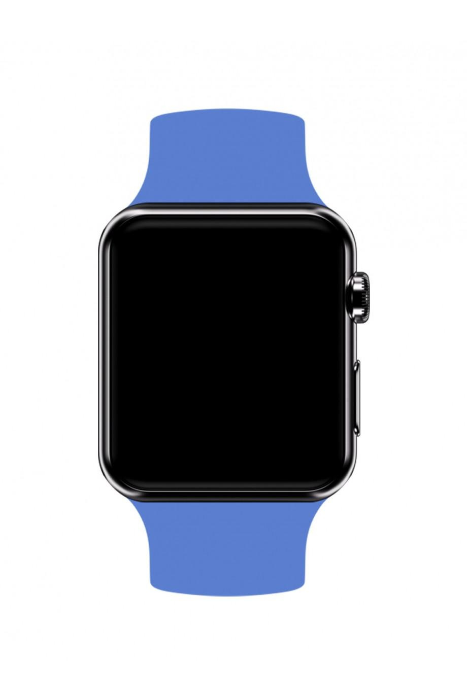 Силиконовый ремешок для Apple Watch 3 38 мм, серо-голубой